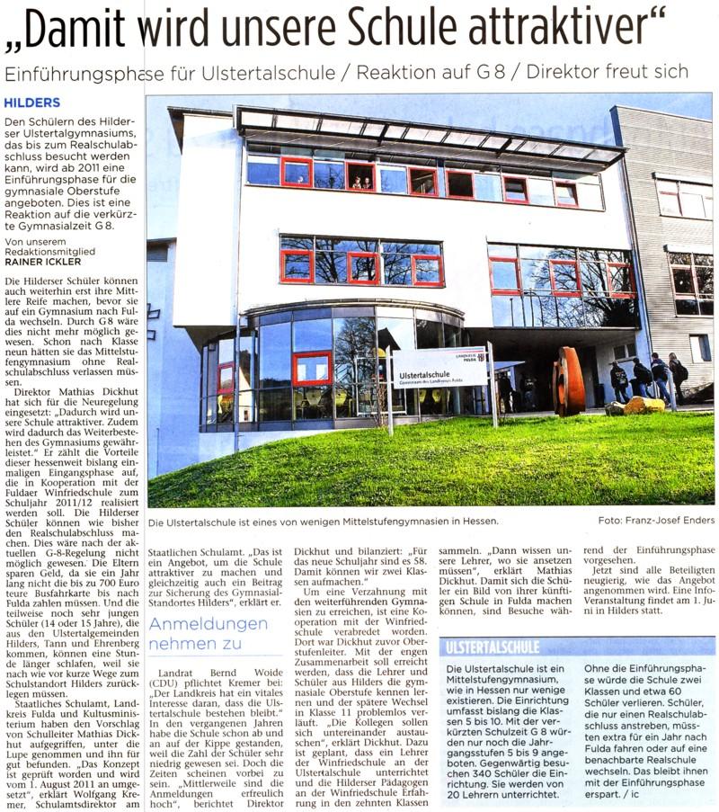 Aus der Fuldaer Zeitung vom 28. April 2010